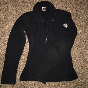 BLACK NORTH FACE HALF ZIP